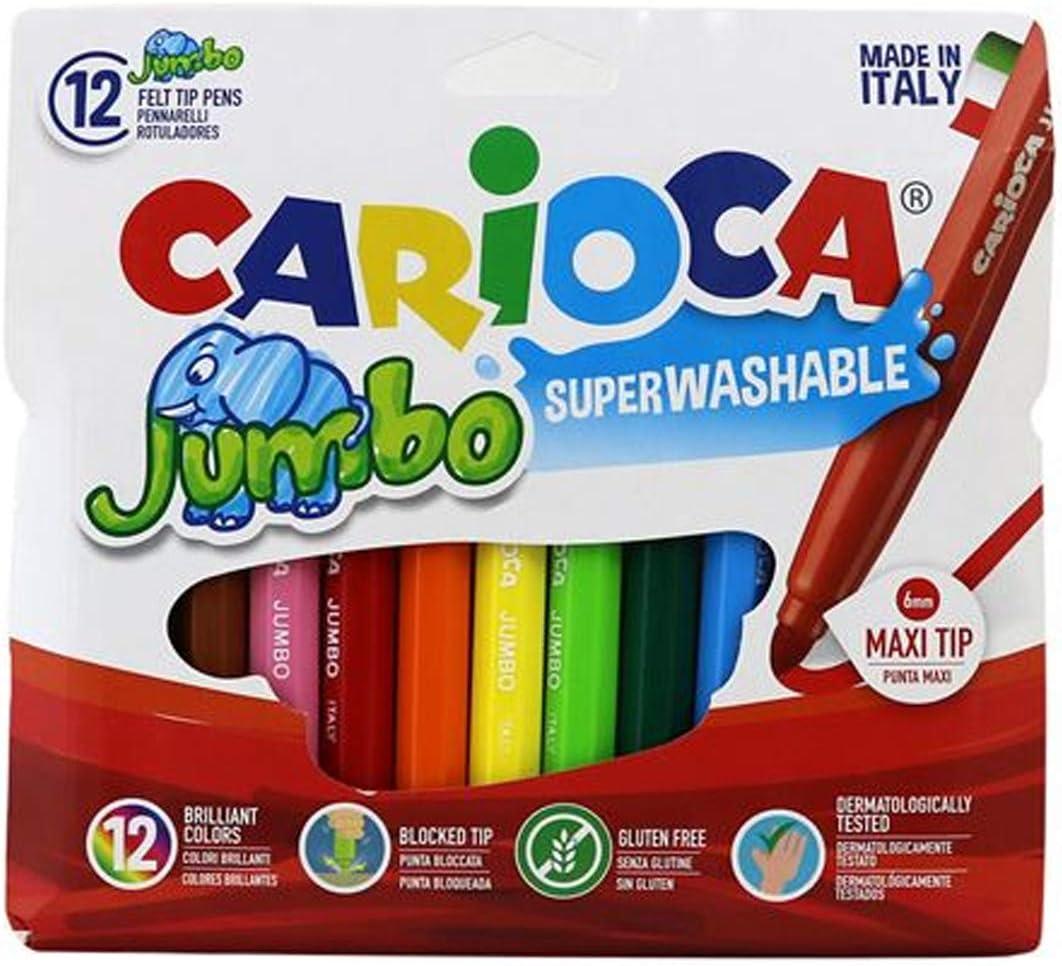 Carioca Rotulador Jumbo 12 Unidades 40565: Amazon.es: Oficina y papelería