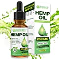 Organic Hemp Oil Extract Drops for Pain Relief, Sleep Aid, Anxiety Relief, Stress Relief That's 100% Pure Natural Non-GMO Cold-Pressed