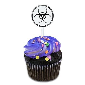 Amazon Biohazard Zombie Cake Cupcake Toppers Picks Set Kitchen