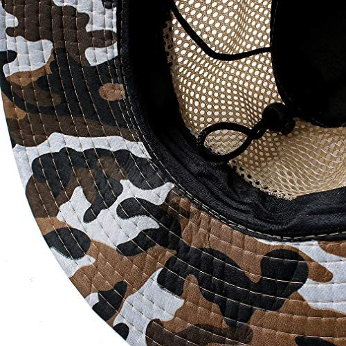 Largesoy サファリハット 釣り帽子 UVカット メッシュ通気構造 通気性抜群 つば広 折りたたみ可能 紫外線対策 釣り ハイキング