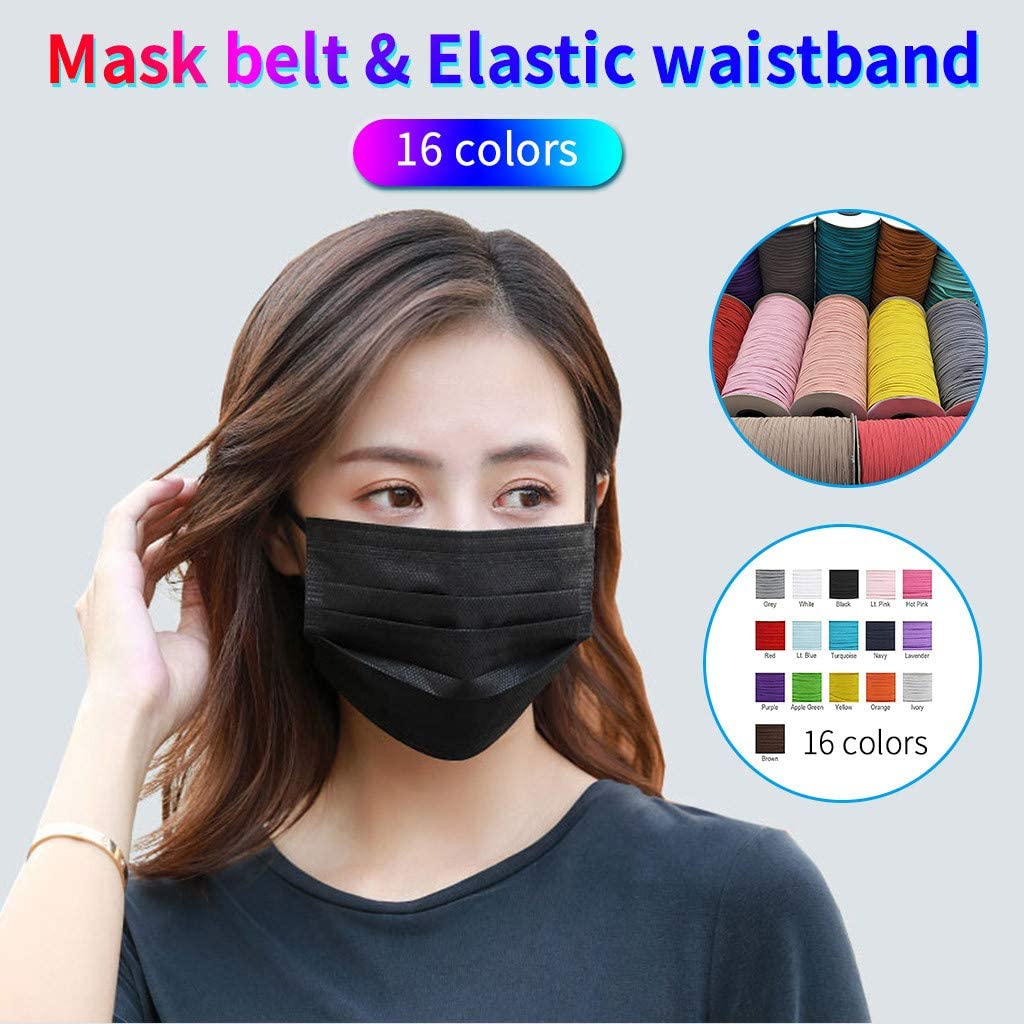 Multicolor Toxz DIY Elastic Band Multicolor Width 3mm Homemade Mask Rope Elastic Band