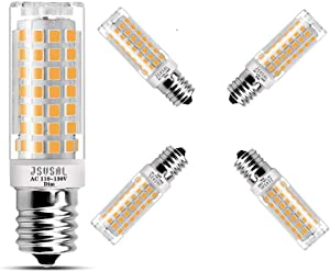 JSVSAL (4-Pack) E17 LED Light Bulbs, AC 110-130V, Dimmable Natural White 4000K, 6W 650 Lumen Corn Bulb for Microwave Oven Lights, Ceiling Fan Light,50-75W Halogen Bulb Equivalent