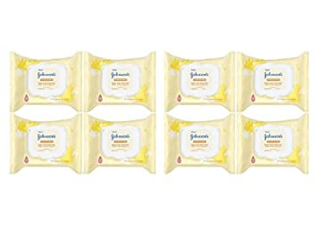 Johnsons Hand & Face Portable Wipes, 25 Count, Alcohol Free (Pack ...