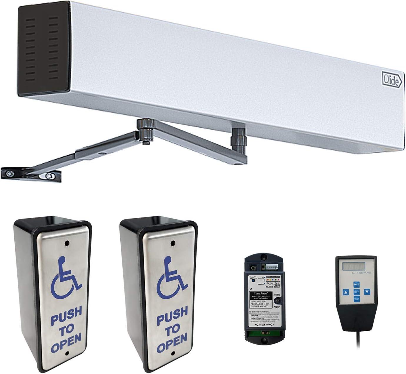 Olideauto Home Electric Door Opener Wireless Handicap Door with Wireless Narrow Handicap Push Buttons Olide-511 and Receiver