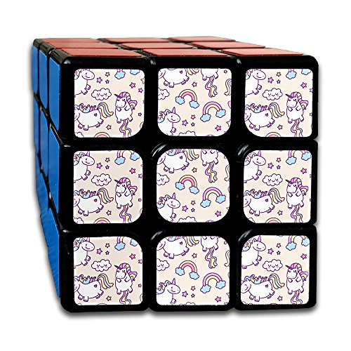 Colorful Unicorn Drawings Pattern 3 X 3 Cube Easy Turning And Smooth Play Magic Cube Puzzles Toys