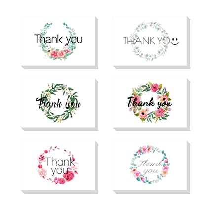Amazon Com Magic Ants Thank You Card Flower Garland Gifts Greeting