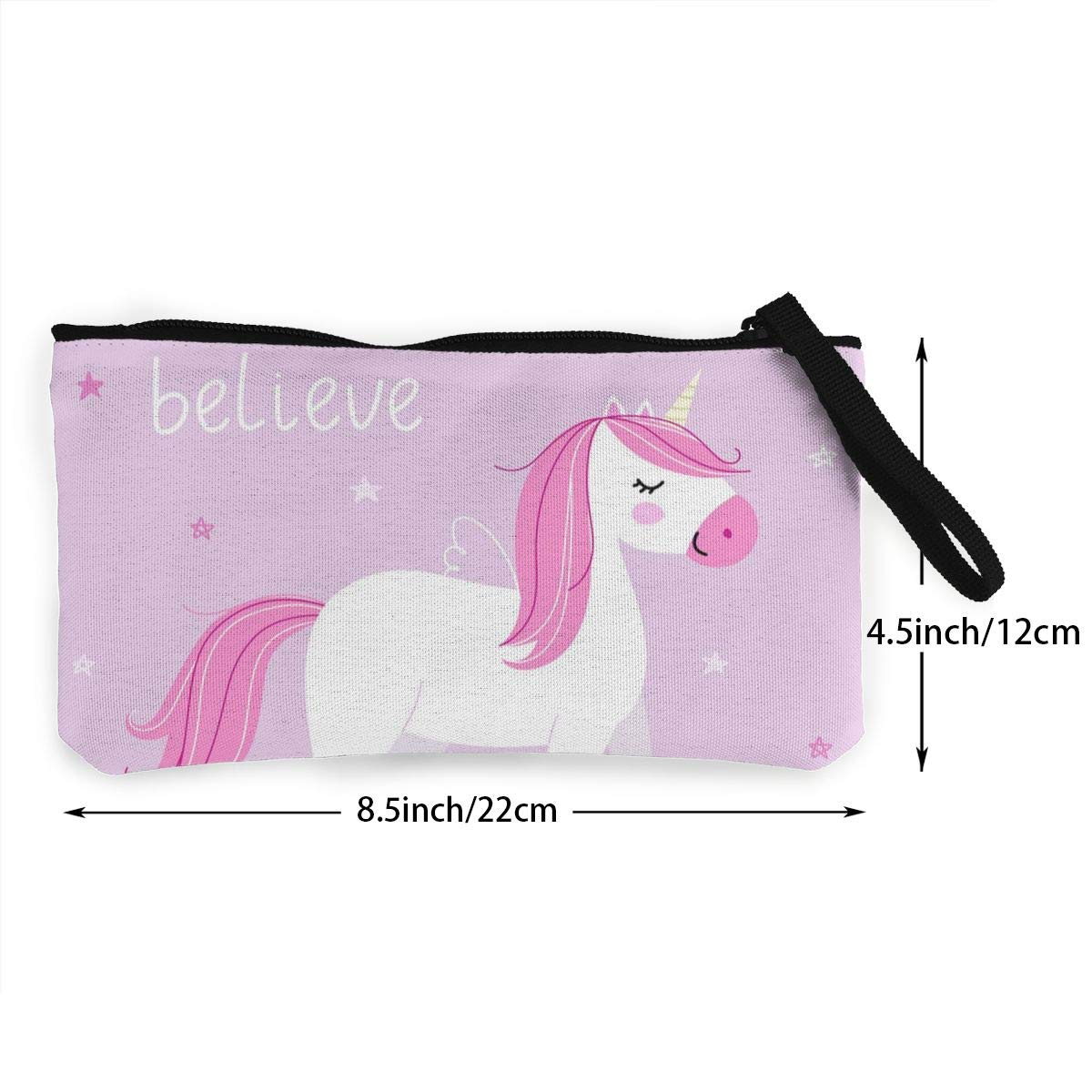 Yamini Background with Cute Unicorn in Pastel Colors Cute Looking Coin Purse Small and Exquisite Going Out to Carry Purse