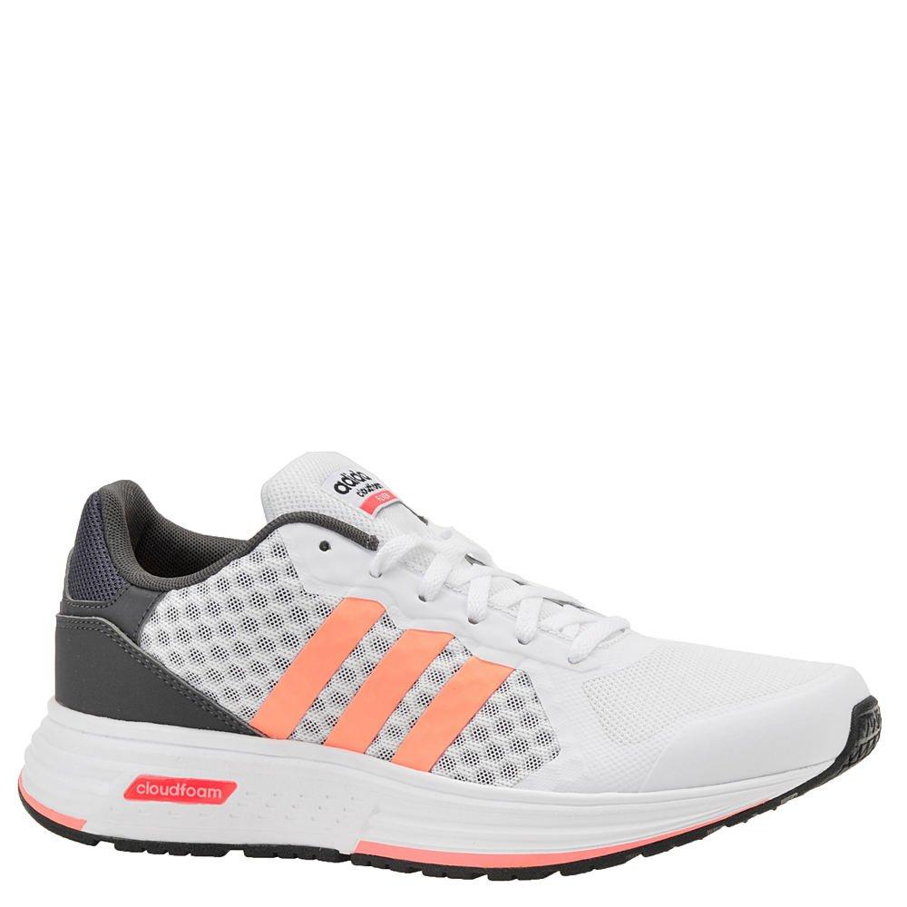 Adidas NEO Cloudfoam Flyer W running Shoe - White/Sun Glow/Black - Womens - 9