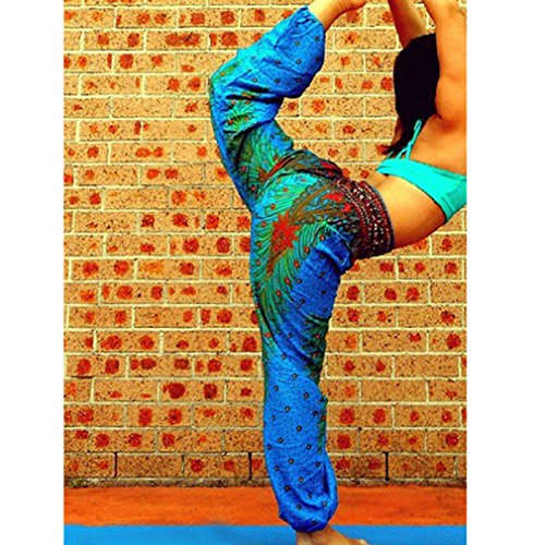 Vita Del Floreale Larga Jogger Stampa C1 Folk Danza Estive Da Yying Con Ventre Donna Harem Gamba Pantaloni In Nepal Stile T8qfY