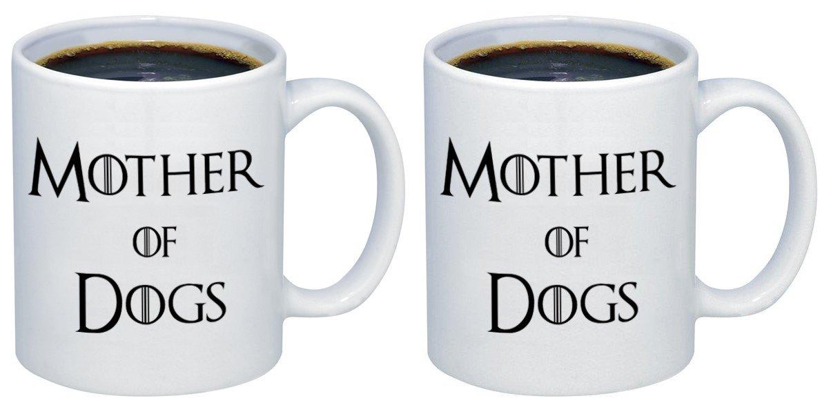 P & Bの母犬セラミックコーヒーマグカップm408 11oz. (set of 2) ホワイト 11oz. (set of 2)  B077YT7K1V