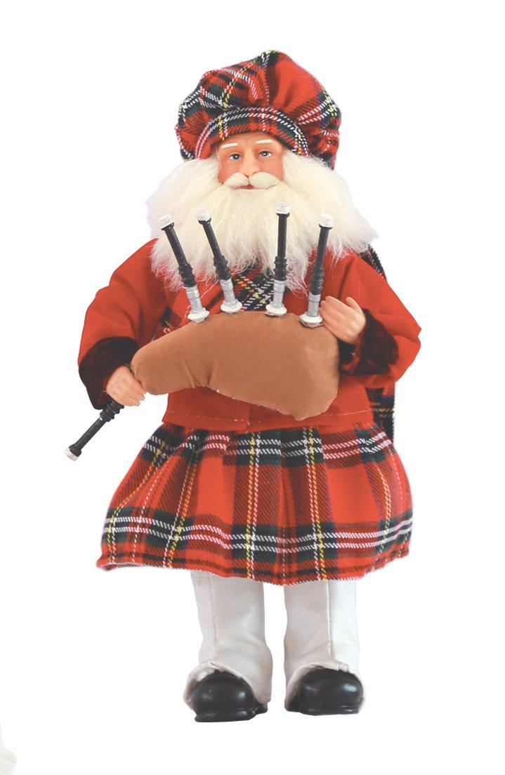 Santa's Workshop Scottish Santa Figurine, 12''