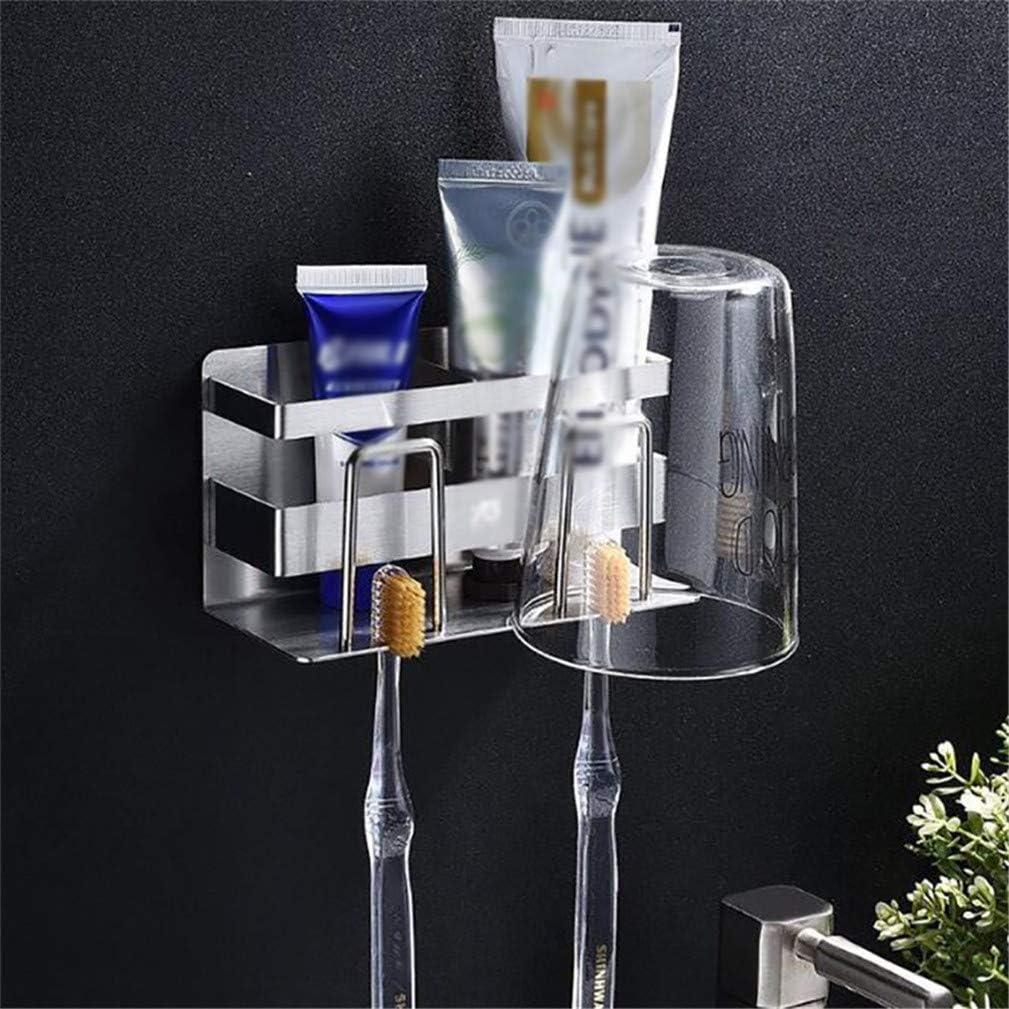 QQAAZZ Creative Toothbrushes Storage Stainless Steel Home Bathroom Toothbrush Holder Organizer Accessories