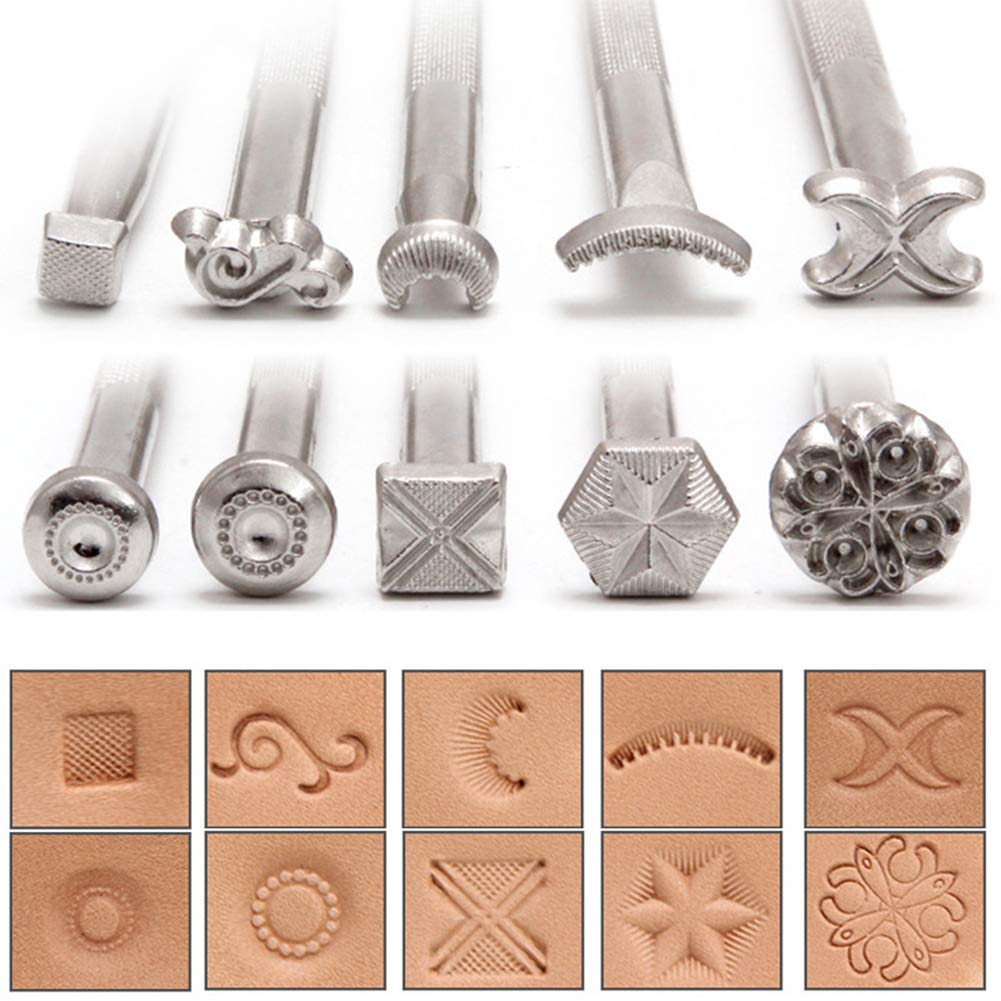 Very Many Patterns Leather Stamping Tools Kit Craft Designs 72Pcs//Lot Working Making Punch Carving Handmade Art DIT Leathercraft Set for Wallet Bag Saddle Scabbard Stamp