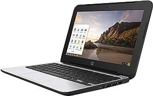 HP ChromeBook 11 G4 EE: 11.6-inch (1366x768)   Intel Celeron N2840 2.16GHz   16GB eMMC SSD   2GB RAM   Chrome OS - Black (Renewed)