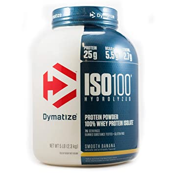 Amazon Dymatize Nutrition ISO 100Smooth Banana 5 Pound