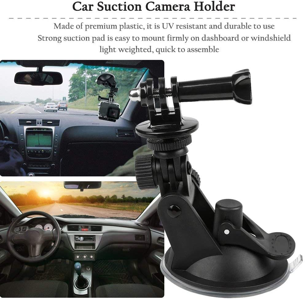 Jullynice Universal Car Suction Cup Adapter Windshield Mount Holder Bracket Action Camera Accessories for Gopro Hero 1 2 3 4