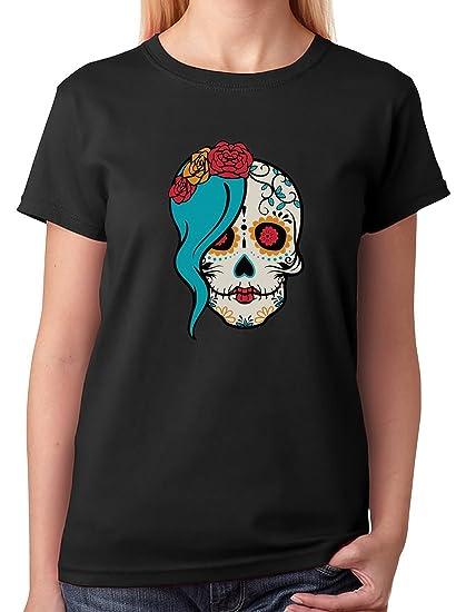 459ac318 Amazon.com: Tstars - Mrs. Sugar Skull Day of The Dead Gothic Women T ...
