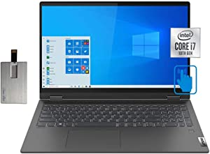 "2020 Lenovo IdeaPad Flex 5 15.6"" FHD Touchscreen Laptop Computer, Intel Core i7-1065G7, 16GB RAM, 2TB PCIe SSD, Backlit KB, Dolby Audio, Intel Iris Plus Graphics, Win10, Gray, 32GB SnowBell USB Card"