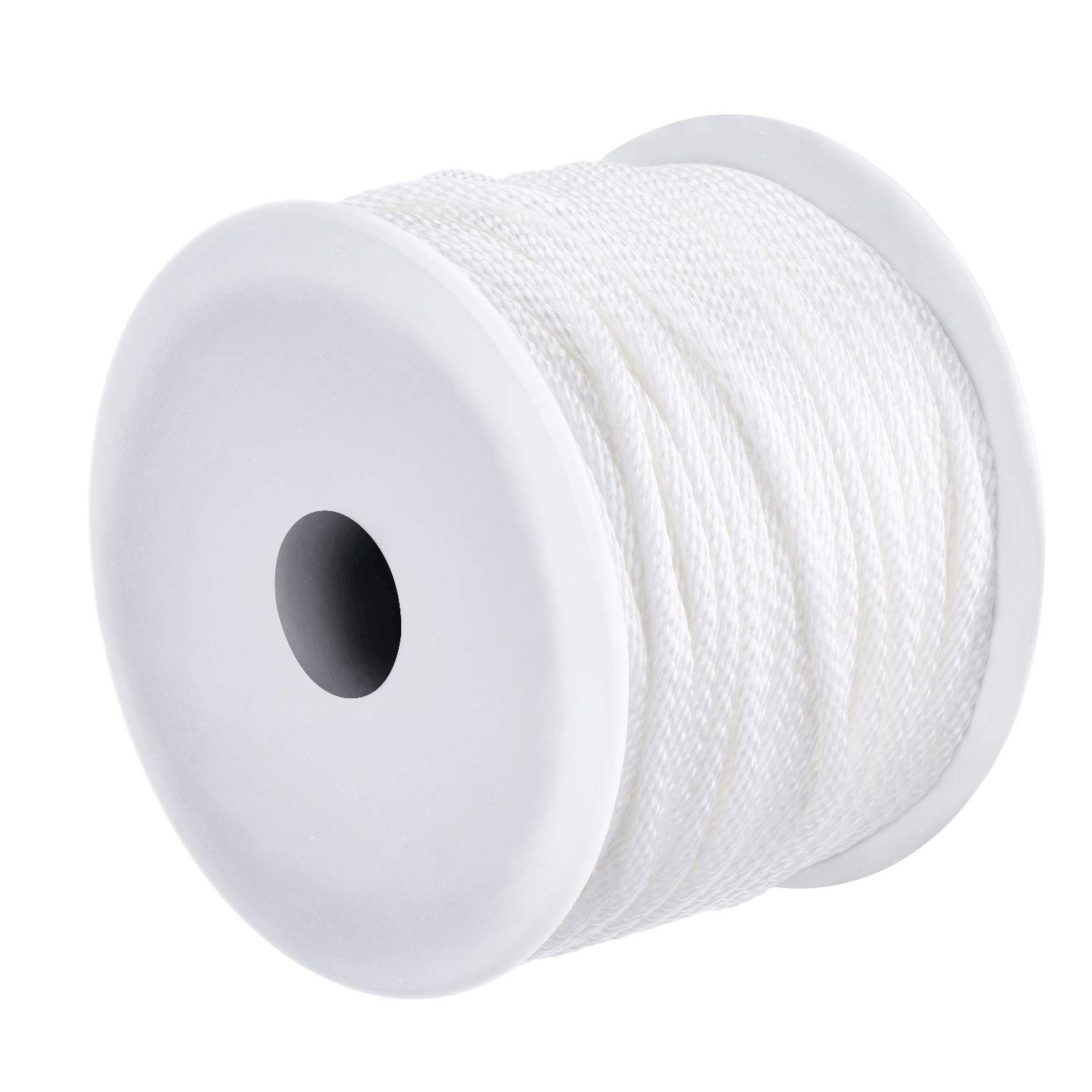Canomo 1/8 inch Diameter Nylon Twist Cord String Rope Picture Hanging Cord Wire Hold Up to 30kg for Home Décor, Picture Mirror Hanging, 164 Feet
