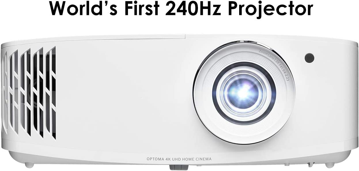 Optoma UHD50X True 4K UHD Projector for Movies & Gaming | 240Hz Refresh Rate | Lowest Input Lag on 4K Projector | Enhanced Gaming Mode 16ms Response Time | HDR10 & HLG Compatibility | 3400 lumens
