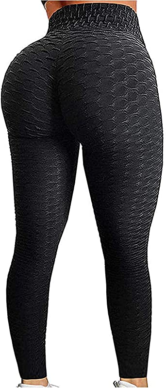 Amazon Com Yofit Booty Yoga Pants Women Ruched Butt Lifting Textured Scrunch High Waisted Tummy Control Slimming Leggings Workout Tights Clothing