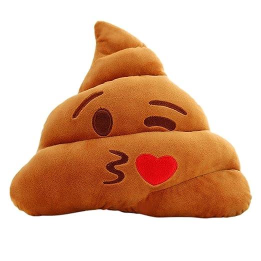 Luckyoiu Cojín Emoji Almohada 18CM / 25CM Cute Stuffed Plush ...