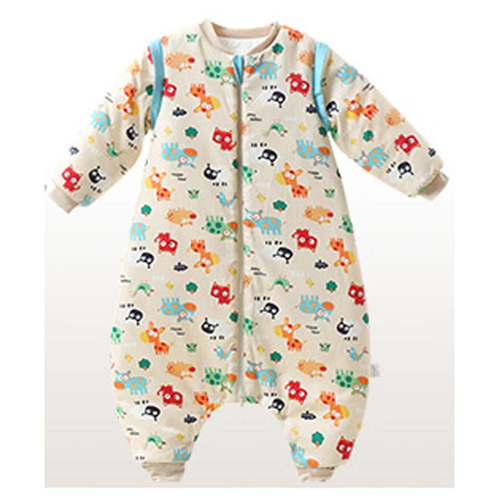 Schlafsack für Kinder AUGAUST Baumwolle Baby Schlafsack Baby Herbst und Winter Verdickung Anti-Kick-Schlafsack (Farbe   A, größe   M)