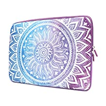 iCasso 13-Inch Stylish Soft Neoprene Sleeve Case Cover Bag For Apple Macbook Air / Pro / Retina 13 Inch/2016 New Retina 13 Inch-Purple Medallion