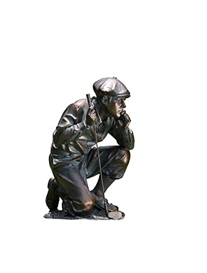 Accents & Occasions Kneeling Golfer Figure, 14-Inch Tall