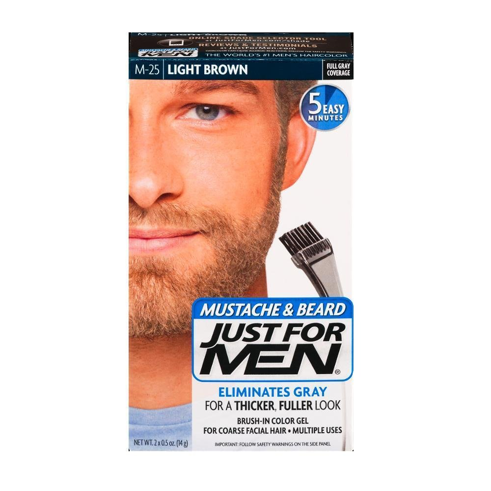Amazon just for men hair color light brown 1 ounce just for men brush in color gel mustache beard m 25 light urmus Image collections
