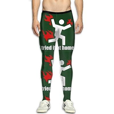 QWYHFHH Men's Funny - Mens Compression Pants Sport Tight Leggings