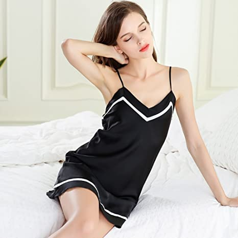 4f2a5b3429ab NEIYI Sexy pajamas women summer ice silk thin section hot adult short sling  nightdress fun extreme