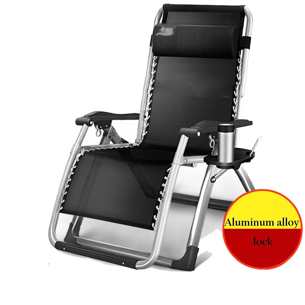 3 GLJ Widened Lounge Chair Folding Lunch Break Office Chair Chair Chair Lunch Break Chair Beach Home Leisure Chair Folding Chair (color   3)