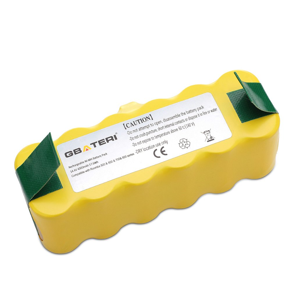 GBATERI 14.4V 4000mAh NiMh Replacement Battery for iRobot Roomba 500/600/700/800/R3 Series 510 530 532 535 540 560 562 570 580 595 620 630 650 660 760 770 780 790 870 880 R3 Robot APS Vacuum Cleaners