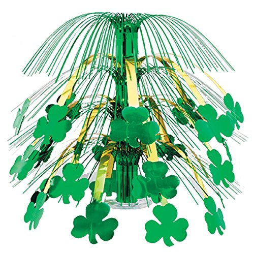 (Pack of 6 Green and Gold Shamrock St. Patrick's Day Cascade Centerpieces Party Decorations 18