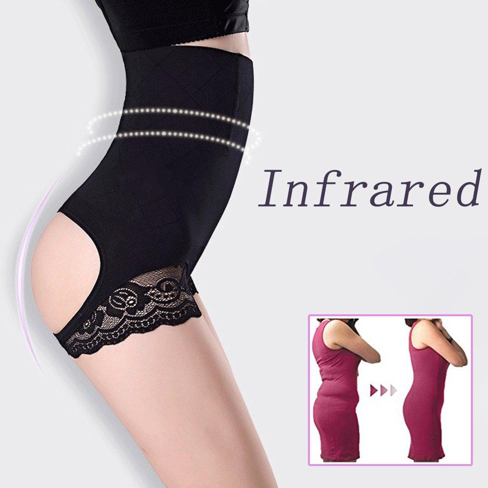 Shapewear,Body Shaper,Butt Lifter Slimmer Control High Waist Thigh Seamless Body Shaper Tummy Control Boy Shorts for Women Black Color M//L