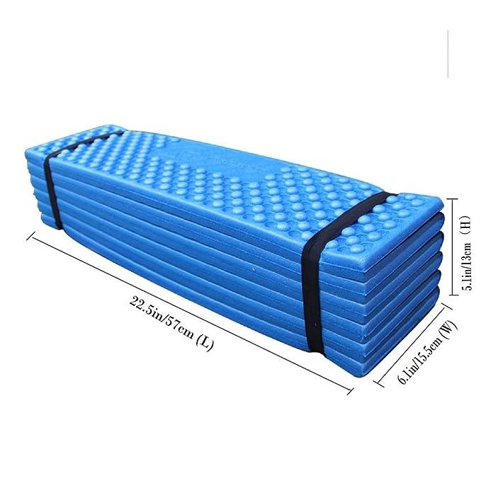 BeGrit Dormir Pad Ligero Plegable portátil Asiento cojín Resistente al Agua Espuma Suave Alfombrilla de la Humedad para al Aire Libre Viajes Picnic ...