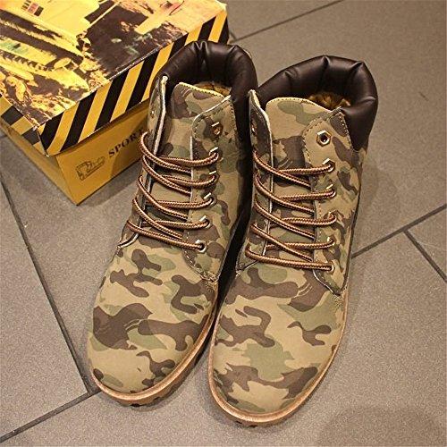 Xujw Camouflage Color largo Stivaletti Uomo arrotondata e Color punta da tacco da 2018 Dimensione Color con e EU uomo Camouflage Stivali da 38 shoes donna gWpcHrg