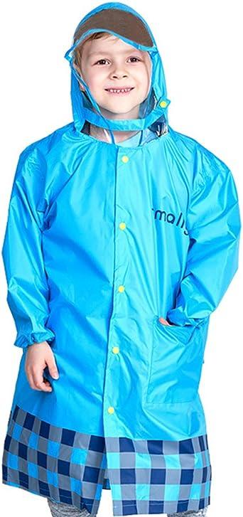 Kinder Regenmantel mit Schultasche Position Wasserdichte Regenjacke Regenschutz mit Kapuze Poncho Regen Regenanzug Tragbare Regenbekleidung