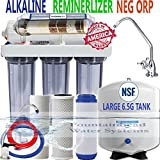 REVERSE OSMOSIS ALKALINE IONIZER CLEAR HOUSINGS LG TANK 150GPD CHOICE OF FAUCETS