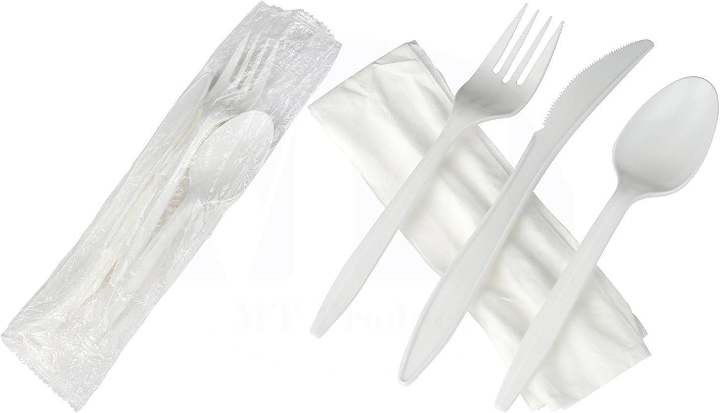 100 X Desechable superior de plástico negro fuerte Tenedores Cubiertos Fiesta Celebraciones