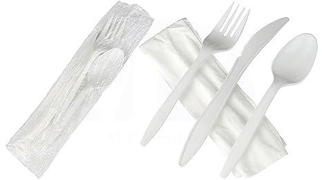 Amazon.com: Juegos de cubiertos de plástico para sacar por ...