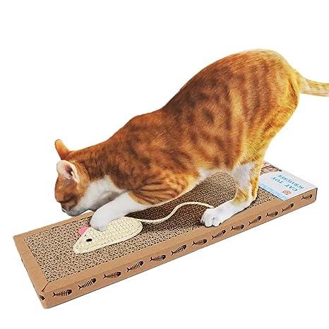KAIL - Rascador de gatos de cartón ondulado con almohadilla plana para rascar