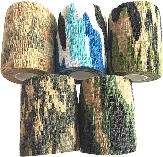 XunHe Camo Tapes 8 rouleaux v/élo bandes multi-fonctionnelles Stealth Camouflage Tape en tissu non tiss/é auto-adh/ésif bande pour lampe de poche t/élescopique