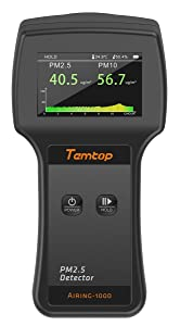 Temtop Airing-1000 Professional Laser Air Quality Monitor PM2.5/PM10 Detector Particle Counter Dust Meter Real Time Display High Accuracy