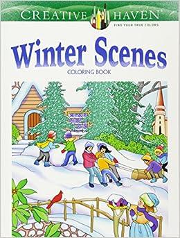 creative haven winter scenes coloring book creative haven coloring books - Creative Haven Coloring Books
