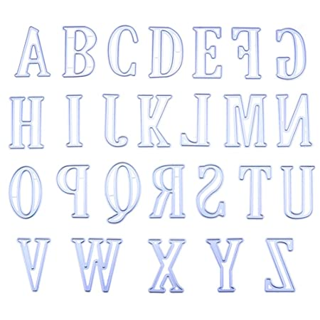 Zantec 5cm Large Big Alphabet Letters Metal Cutting Dies Stencils