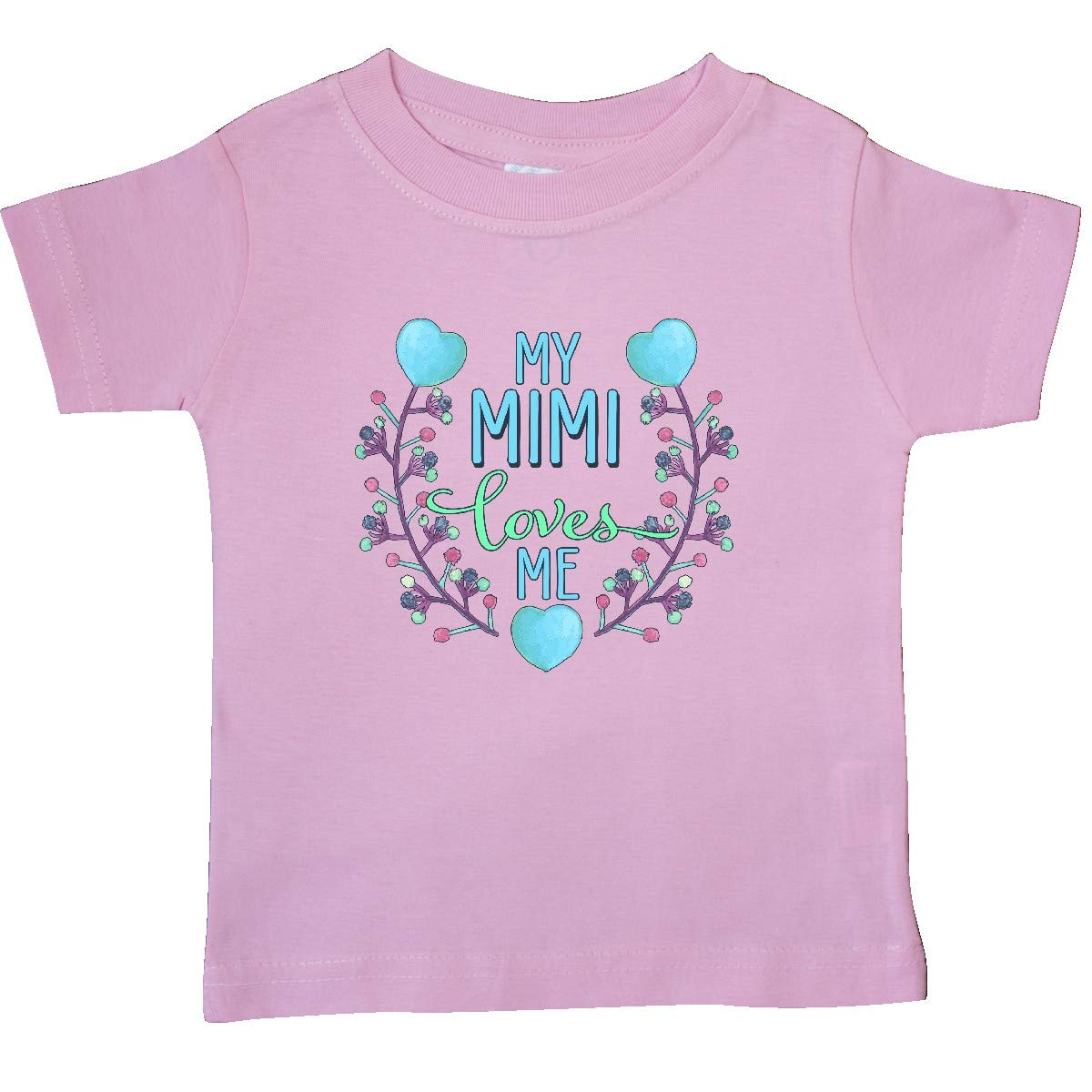 inktastic My Mimi Loves Mimi with Flowers and Hearts Baby T-Shirt