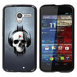 Impact Case Cover with Art Pattern Designs FOR Motorola Moto X 1 1st GEN I Design Skull Music Betty shop