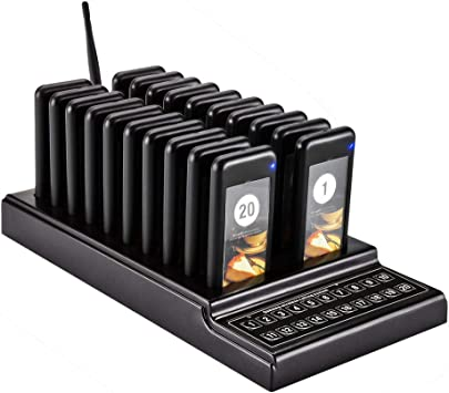 Retekess T111 Restaurant Food Truck Calling System 20 Pager 3 Prompt Mode 433MHz